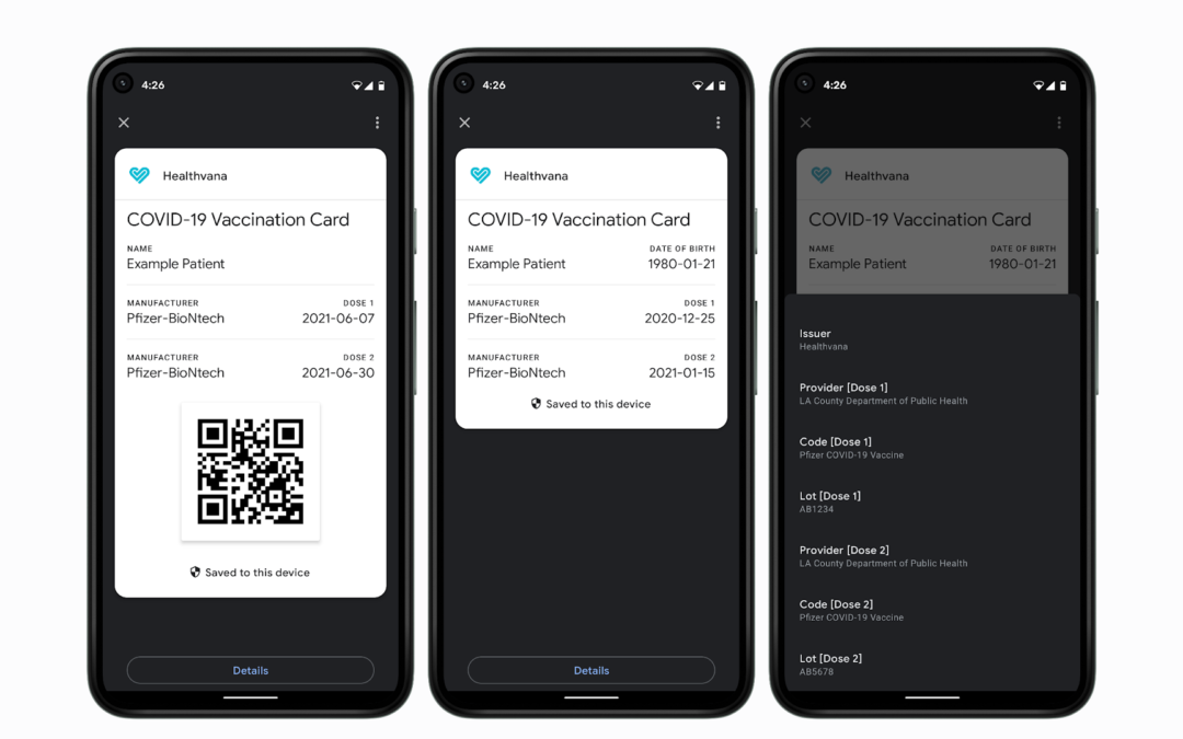 Google Pay Can Now Store COVID-19 Vaccination Cards on Android